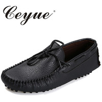 Ceyue Brand Men Casual Shoes High Quality Men S Soft Leather Slip On Loafers Male Fashion