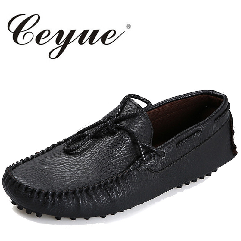 Ceyue Brand Men Casual Shoes High Quality Men's Soft Leather Slip-on Loafers Male Fashion Driving Shoes Boat Shoe Mens Moccasin desai brand italian style full grain leather crocodile design men loafers comfortable slip on moccasin driving shoes size 38 43