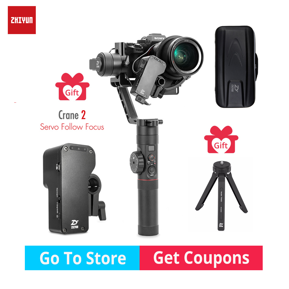 Zhiyun Crane 2 gimbal 3-Axis DSLR 3.2KG bear Camera Stabilizer withfollow focus for DSLR Mirrorless Camera Canon PK MOZA DJI