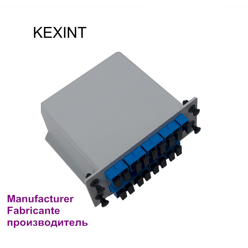 Manufacturer PLC Splitter Insertion 1*16 /LGX /Cassette type Fiber Optic PLC Splitter SC/UPC / 5Pieces