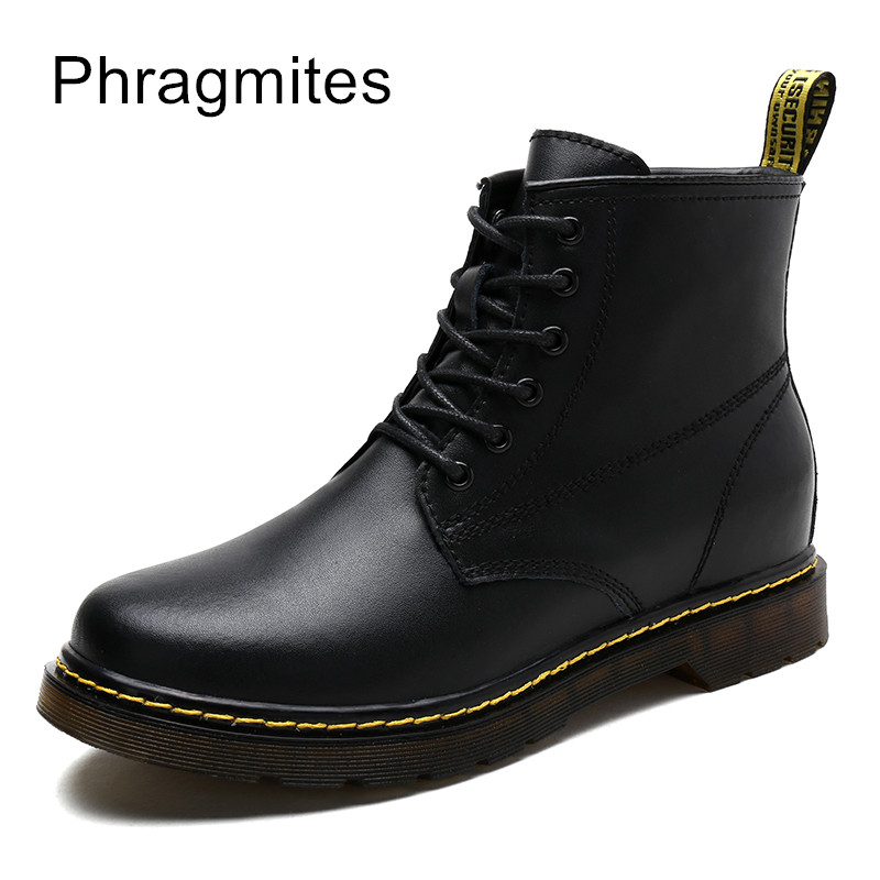 Phragmites High Quality Autumn Men Boots Winter Waterproof Ankle Boots Martin Boots Outdoor Working Boots Men boots bagatt boots