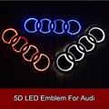 Стайлинга автомобилей 5D Светодиодные Задние Эмблемы Логотипа Свет Значка Автомобиля Лампы для Audi Q3 Q5 A1 A3 TT