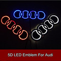 Car Styling 5D Led Rear Emblem Logo Light Car Badge Bulb for Audi Q3 Q5 A1 A3 TT