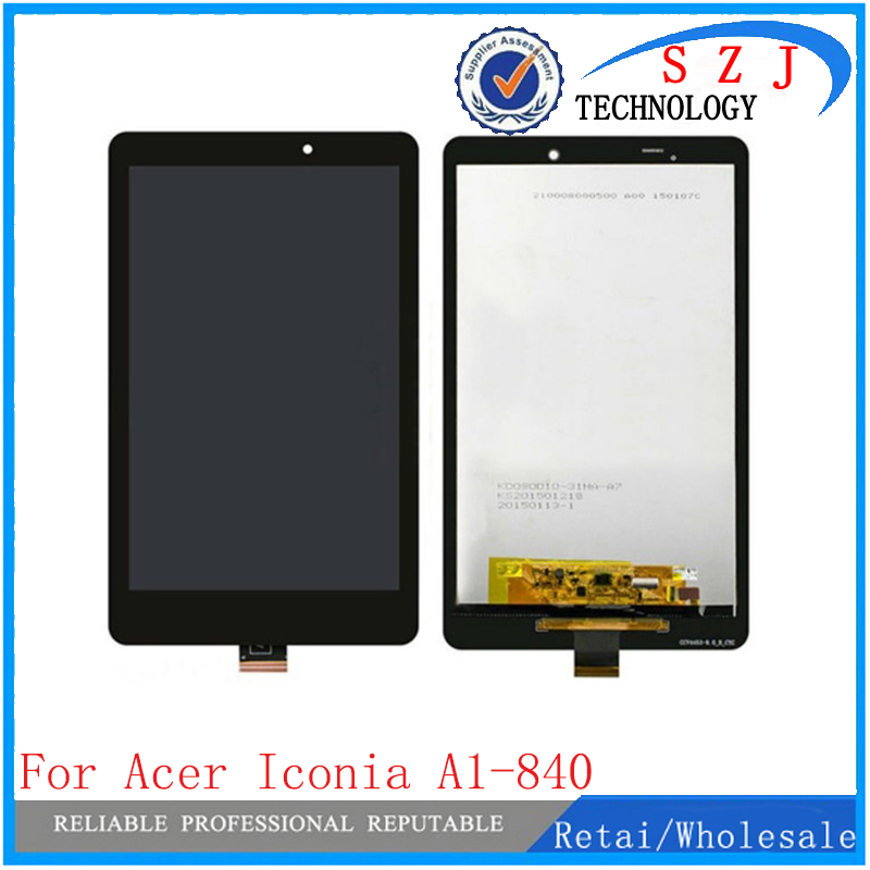 New 8'' inch For Acer Iconia Tab 8 A1-840 Full LCD Display + Panel Touch Screen Digitizer Glass Replacement Free Shipping for new lcd display touch screen digitizer with frame assembly replacement acer a1 820 8 inch black free shipping