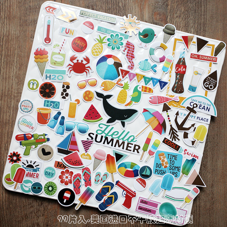 99pcs Bronzing color kawaii Seaside Beach Series in Summer Decoration Sticker DIY Scrapbooking Label Diary Album Sticker Escolar99pcs Bronzing color kawaii Seaside Beach Series in Summer Decoration Sticker DIY Scrapbooking Label Diary Album Sticker Escolar