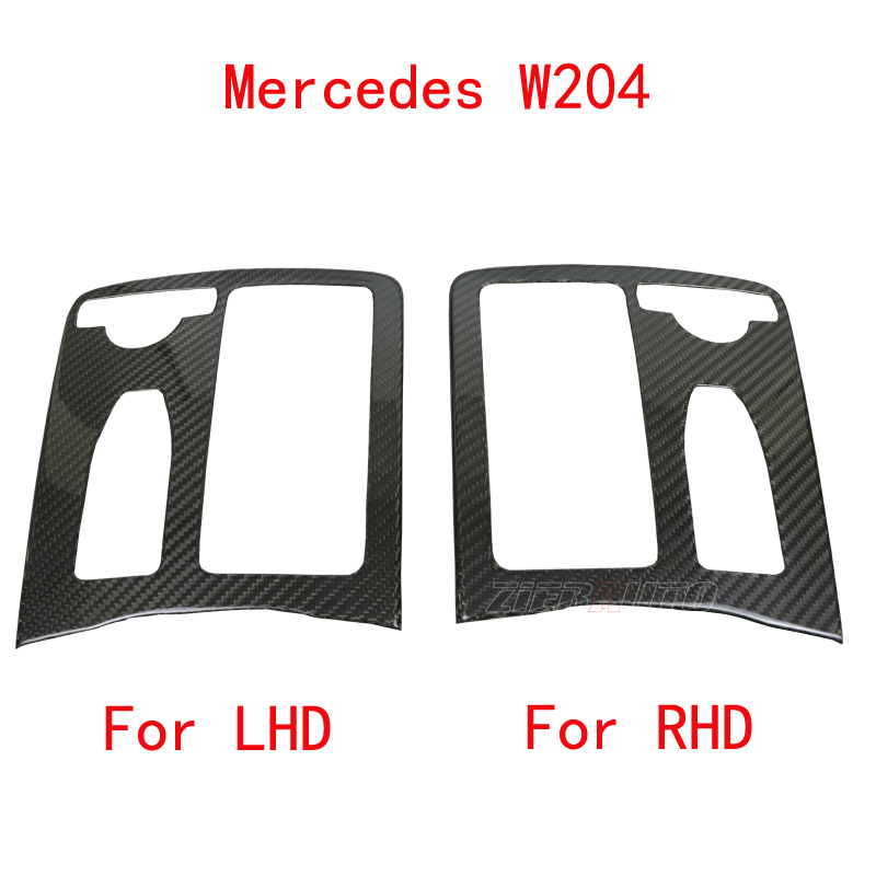 Carbon Fiber Centre Console for Mercedes-Benz C-Class W204 C63 AMG LHD/RHD Stickers Real Carbon Fiber Add-on mercedes carbon fiber trunk amg style spoiler fit for benz e class w207 2 door 2010 2015 coupe convertible vehicles