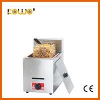 Ce rohs platz gas friteuse edelstahl küche kartoffel chips huhn tiefe braten maschine 8 liter einzigen tank küchenmaschinen-in Elektrische Friteusen aus Haushaltsgeräte bei