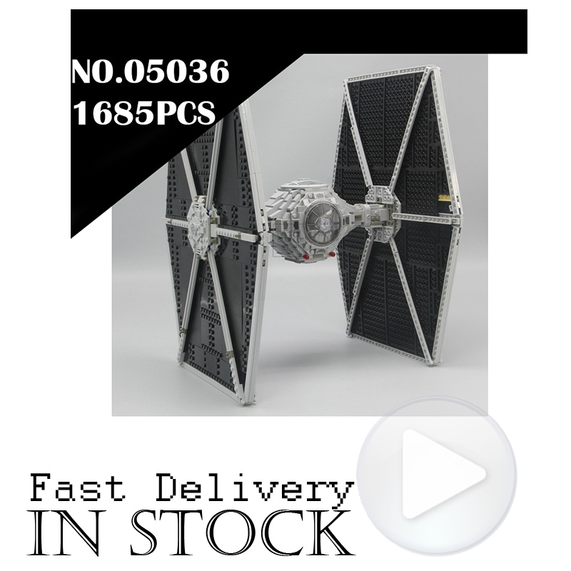 1685PCS Lepin 05036 TIE Fighter STAR Ultimate Collector WARS Rogue One Building Bricks Blocks Toys For Kid Compatible with 75095 new 1685pcs lepin 05036 1685pcs star series tie building fighter educational blocks bricks toys compatible with 75095 wars
