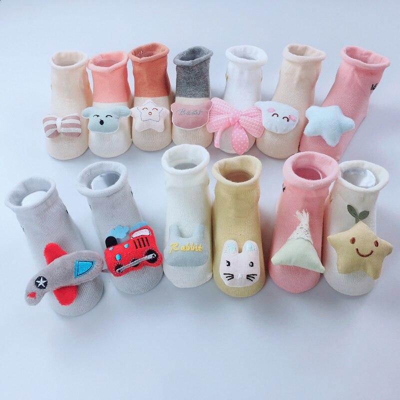 AiKway Crown Newborn Cotton Socks Doll Decoration Solid Color Stitching Boy Girl Child Baby Socks Infant Soft Socks