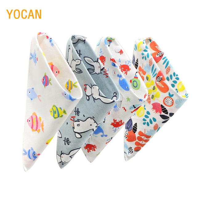Cotton Baby Bibs Cute Newborn infant kids cotton burp cloths bandana bibs Baby Feeding Bib For Girls And Boys Baby Scarf Saliva