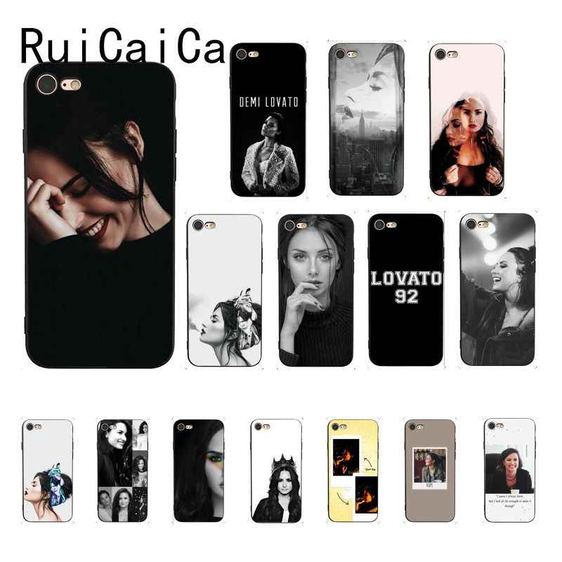 RuiCaiCa demi lovato Soft Silicone TPU Phone Cover for iPhone 5 5Sx 6 7 7plus 8 8Plus X XS MAX XR 10 Case