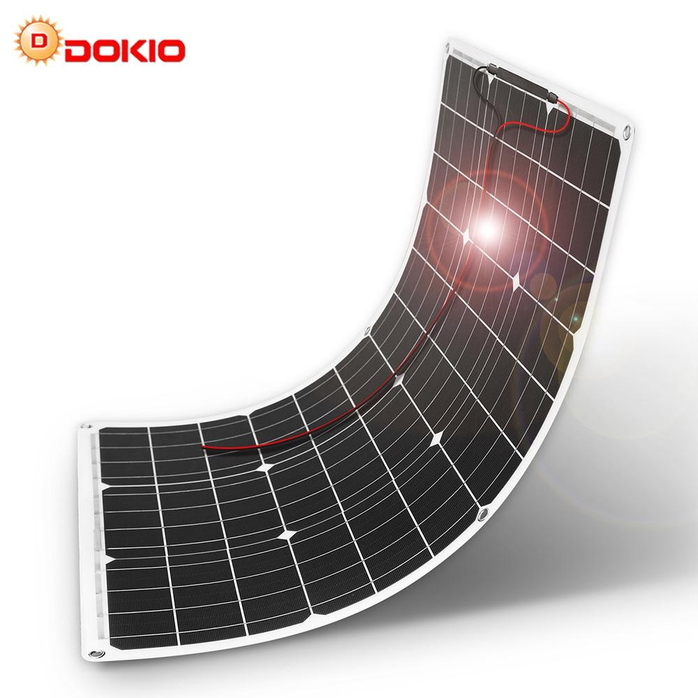 DOKIO Brand 50W 18V Flexible Solar Panel China 10A 12V 24V Controller 50 Watt Flexible Panels