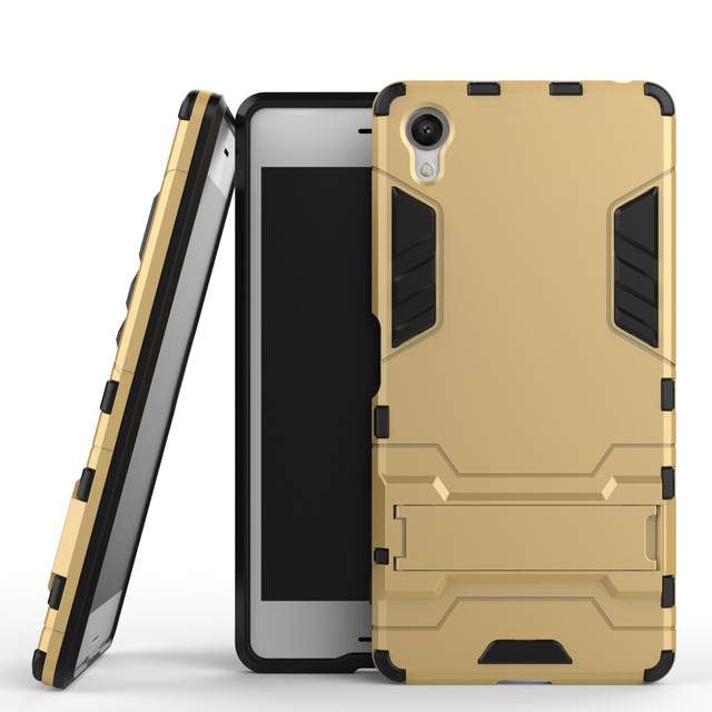 best service c8de6 9ead0 US $5.5 |New Hot ! For Sony Xperia XA Ultra Hard Case Bracket TPU + PC  Cover Protective Back Cover Case 2 In 1 With Stand Armor on Aliexpress.com  | ...