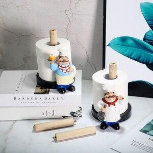 Image 3 - VILEAD 29.5cm שרף שף שכבה כפולה נייר מגבת מחזיק צלמיות Creative בית עוגת חנות מסעדה מלאכות קישוט קישוט