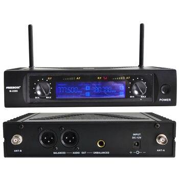 Freeboss M-2280 50M de distância de 2 canais Sistema de microfone de fone de ouvido Estágio Karaoke Microfone sem fio UHF (Brasil São Paulo estoque sem impostos) 1