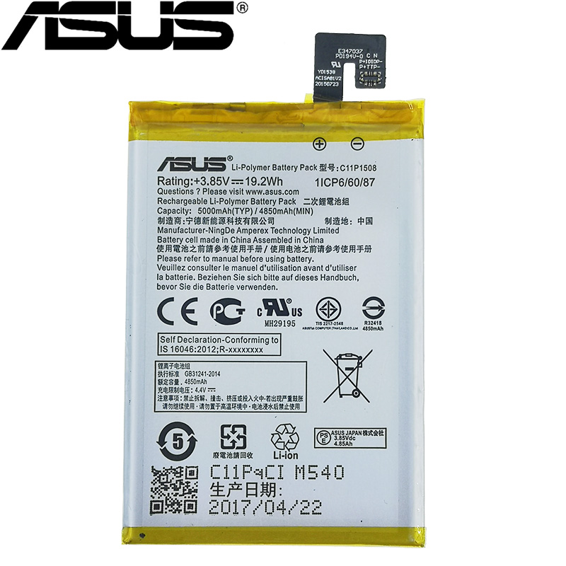 ASUS 100% Original C11P1508 5000mAh New <font><b>Battery</b></font> For ASUS Zenfone Max 5000 5000Z <font><b>ZC550KL</b></font> Z010AD Z010DD C550KL Z010DA high quality image