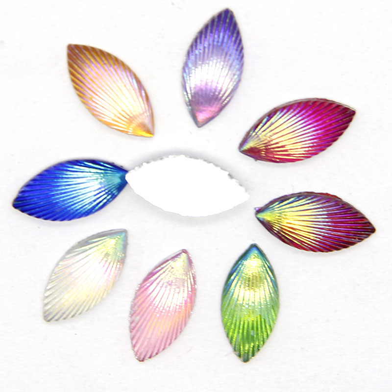 Horse Eye Resin 40PCS Random Color Resin 5*11MM Resin Flatback Crafts Appliques/ DIY Crafts High Quantity With Phone
