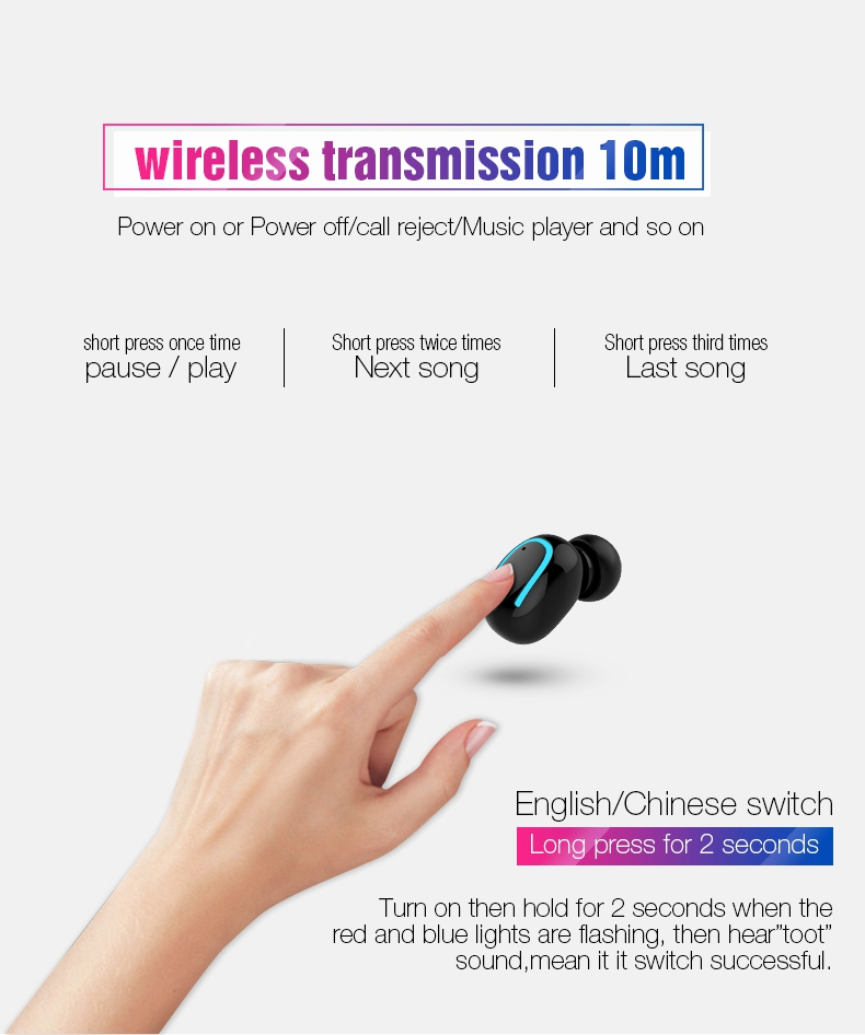 TOMKAS Wireless Headphones 5.0 Stereo Earbuds Bluetooth EarphoneHeadphones TWS Wireless Bluetooth Headset with Charging Box (13)