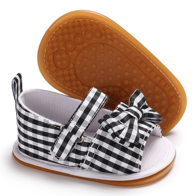 3ffb5de871ea Raise Young Cotton Fabric Summer Baby Girl Sandals Butterfly-knot Rubber Soles  Toddler Girl Shoes