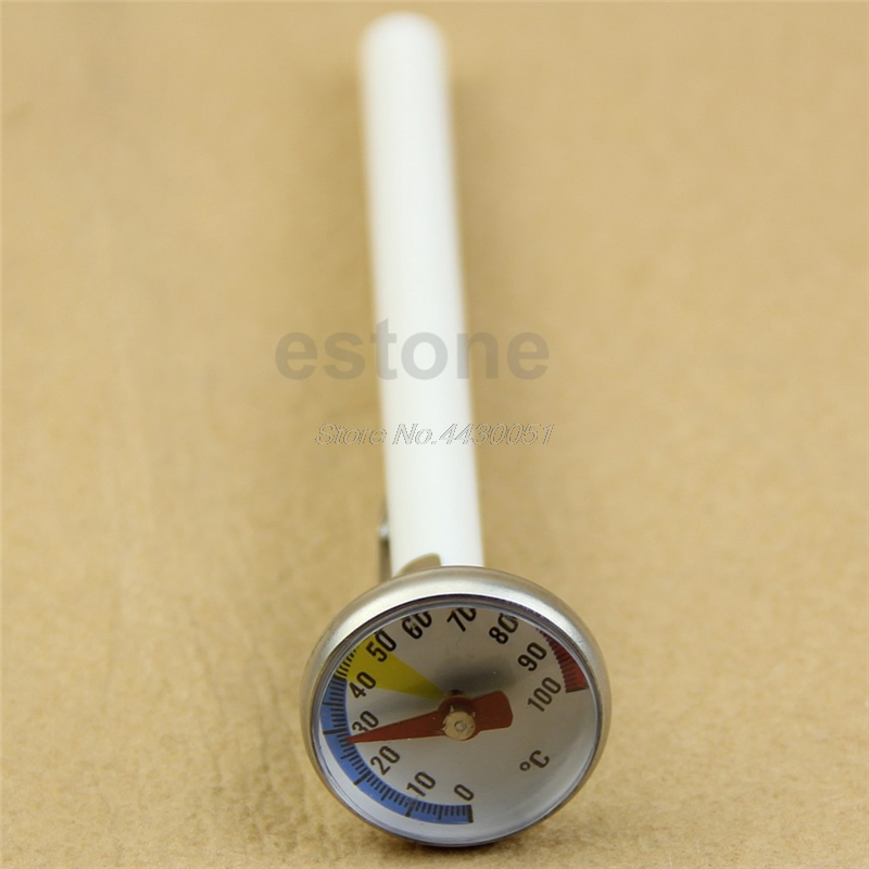 Stainless Steel Instant Read Probe Thermometer BBQ Milk Food Cooking Meat Gauge
