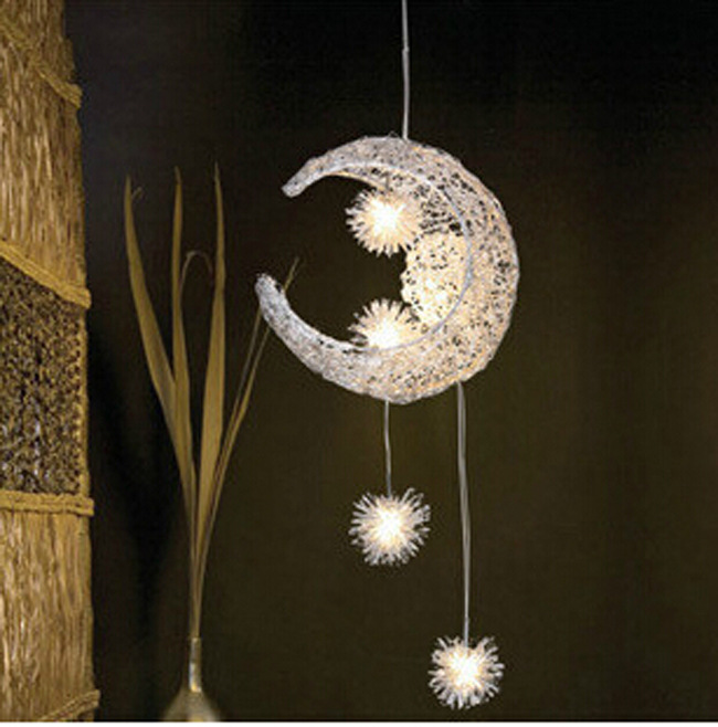 Kid's Room Lighting Modern Fashion Moon&Star Pendant Lights Child Bedroom Lamps Aluminum for Living Room Home Decoration vichy capital soleil увлажняющий спрей вуаль spf30 для тела 200мл