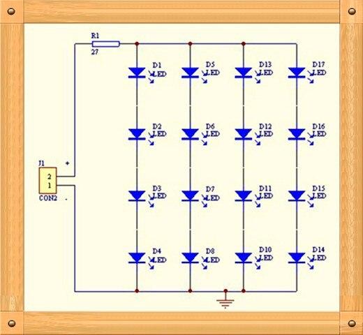 board 4 4 led placa de luz (peças de reposição)
