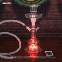 Yeni sigara su boruları cam nargile cam tüp ve hortum ile popüler shisha ve chicha nargile