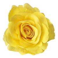 25 pcs DIY Artificielle Rose Fleur Chefs soie décoratif fleur fond hôtel mur décor BRICOLAGE Route led de mariage bouquet, jaune