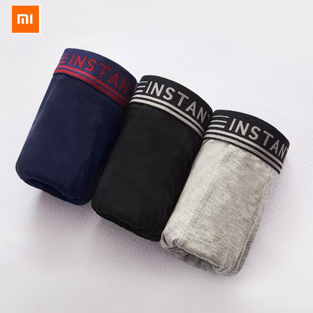 3colors/set Xiaomi Youpin Instant Me antibacterial Breathable Cool Panties 3D Cropping Comfortable Cotton Panties image