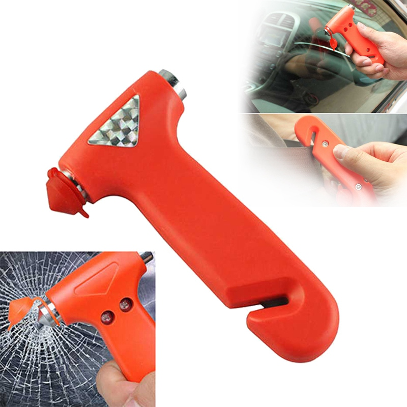 Mayitr 2in1 Mini Safety Emergency Hammer Car Window Glass Breaker Car Rescue Tools Life Saving Escape Hammer Seat Belt Cutter