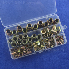 100pcs/set Zinc Plated Rivnut Knurled Nuts Cap Threaded Rivet Nut M3/M4/M5/M6/M8/M10/M12 Insert Nutsert Cap Rivet Nut