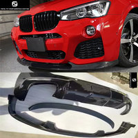 F26 X4 3D style Carbon Fiber front lip rear diffuser rear spoiler wing for BMW F26 X4 3D design car body kit 2015 2016