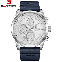 NAVIFORCE Mens Watches Luxury Brand Men's Quartz 24 Hour Date Watches Man Waterproof Clock Men Sport Leather Starp Wrist Watch