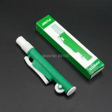 Лабораторный быстроразъемный пипеточный насос Пипетка для переноса пипетки пастеровая пипетка до 10 мл, зеленый без стеклянной трубки-одиночный