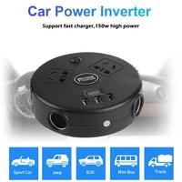 VODOOL Car Inverter DC 12V/24V to AC 220V LED Digital Auto Power Inverter Converter 3 USB Socket Fast Charging For Phone Tablets