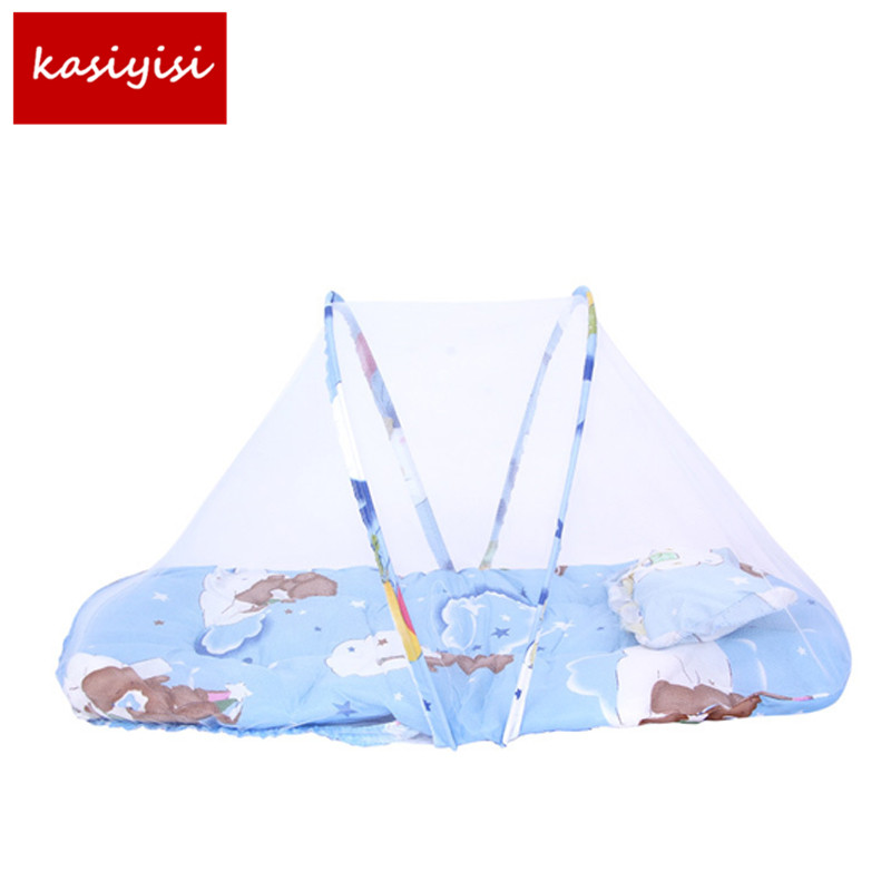 Crib Netting Nice Baby Bed Nets Folding Mosquito Nets Infants Children Sleeping Pad Pillow Bedspread Mosquito Net Cartoon Cotton Bedspread