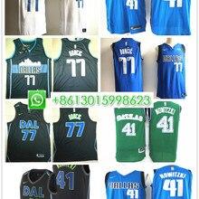 dc7c597fa Sewn Dallas Luka Doncic Dirk Nowitzki mens basketball jerseys camiseta  maillot(China)