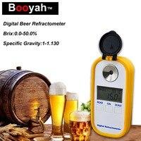 Original Booyah Beer Test Wort Hydrometer Brix 0-50 Concentration Meter 1-1.130SG High Quality Electronic Digital Refractometer