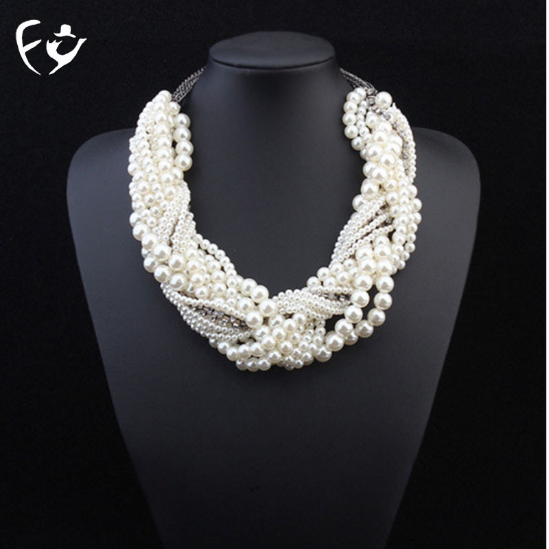 Luxury hand-woven twist collarbone chain layers