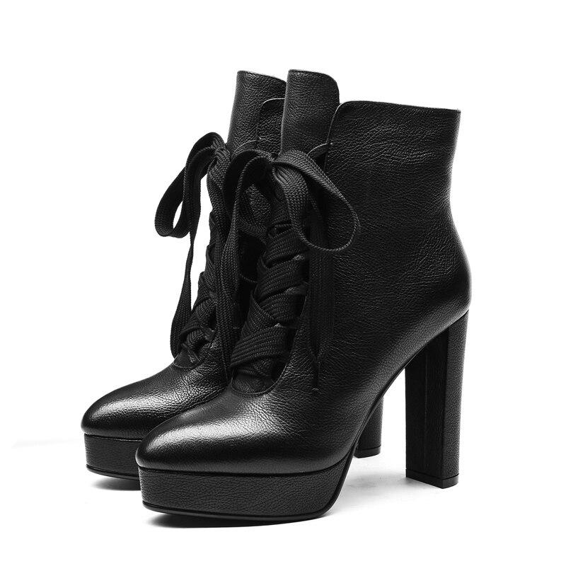 Chaussons Bout Talons Croix Imperméables D'hiver Pointu Chaussures Arden Court Fermeture Furtado Éclair À 2019 Liée Femmes Mode De Black Épais Bottines xedCrQWBo
