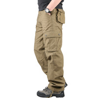 Plus Size Trousers Cargo Pants for Men Military Working Tactical Pants Clothes Pantalon Overalls Army Loose Pants