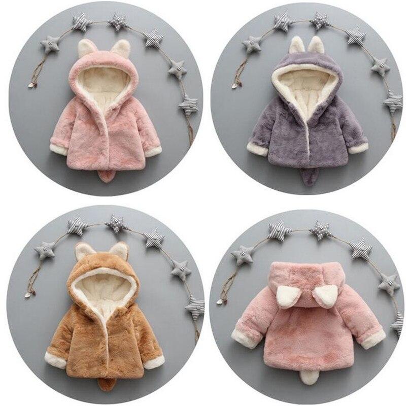 Bescheiden Neugeborenen Baby Mädchen Baumwolle Mantel Mit Kapuze Infant Mädchen Jungen Winter Dicken Mantel Baby Mädchen Tier Samt Warme Kleidung