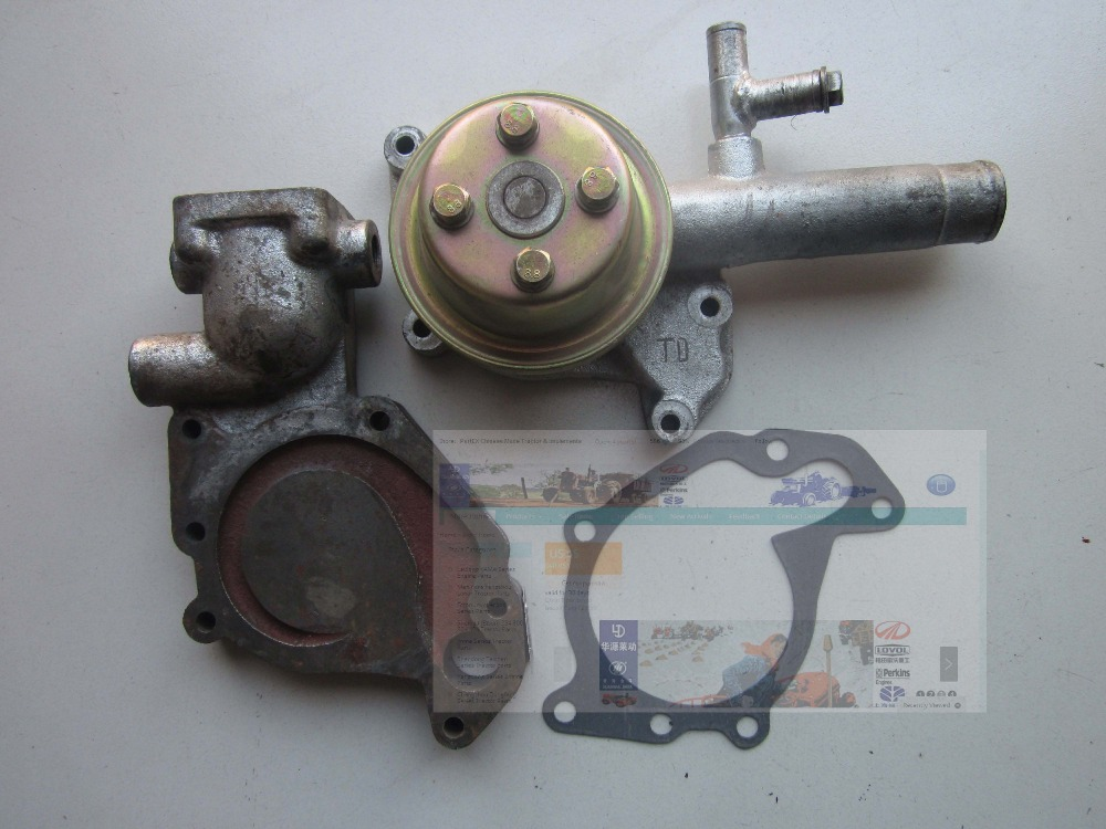 Huayuan Laidong KM485 KM485QB water pump with pump seat (the seat for thermostat type), part number: 6162 63 1015 sa6d170e 6d170 engine water pump for komatsu