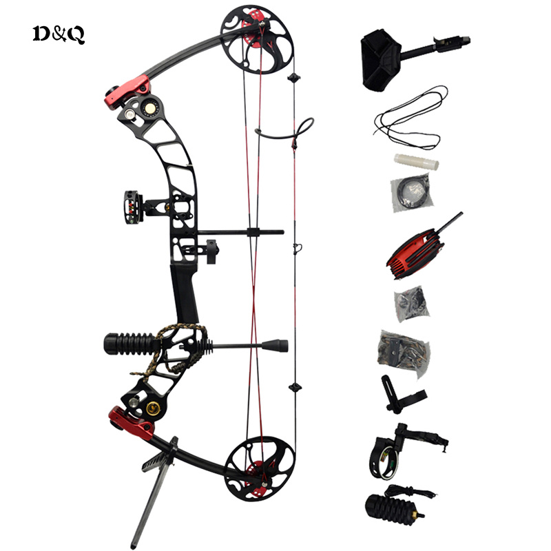 19-70lbs Compound Bow Set for Archery Hunting Target Shooting Aluminum Alloy Competition Practice Sport Slingshot Left Right Bow 50lbs archery compound bow left right handed for hunting target shooting competition sport slingshot bow camouflage black color