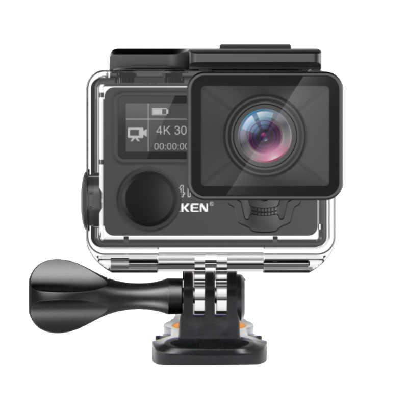 Eken H5s Plus Ultra HD экшн-камера 4K + 12MP с EIS для подводной съемки Водонепроницаемая камера с дистанционным управлением спортивная видеокамера угол 170 градусов объектив