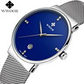 Men Watches Top Brand Luxury Ultra Thin Date Clock Male Steel Strap Waterproof Blue Quartz Watch Men's Casual Sports Wrist Watch