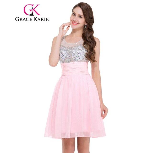 Vestidos cortos rosados de fiesta