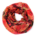 Fashion Stylish Elegant Women's Leaf Wrinkle Small Soft Infinity Loop Cowl Eternity Endless Circle Voile Casual Scarf