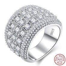 edcc02250809 Abalorio Multicolor corazón CZ cristal ópalo anillos anchos para mujeres  Vintage moda 925 plata esterlina lleno