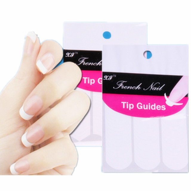 Makartt 100 Sheets Nail Art French Tip Guides Sticker C, Y, V 3 Style Guides Sticker DIY Stencil Hot SKU:B0026XX
